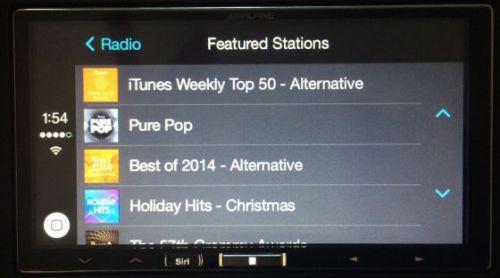 CarPlay音乐列表