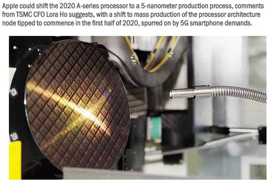 外媒:台积电5纳米工艺明年量产 苹果A14处理器率先尝鲜