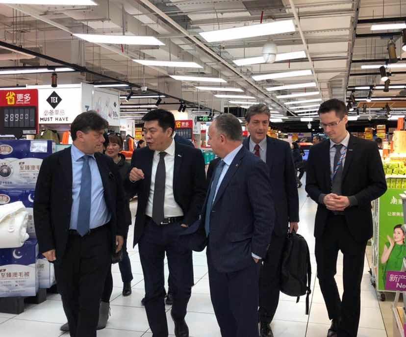 ITA到访家乐福中国 苏宁国际深化意大利合作