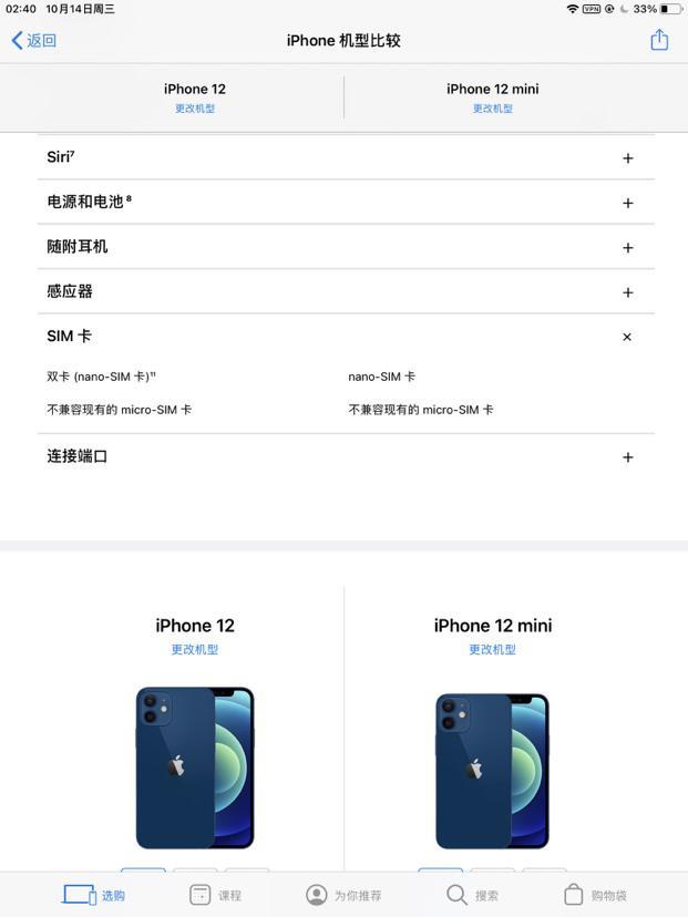 苹果 iPhone 12 mini 只支持单 SIM 卡